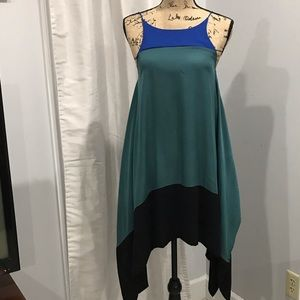 Sugarlips color block green and blue dress size S